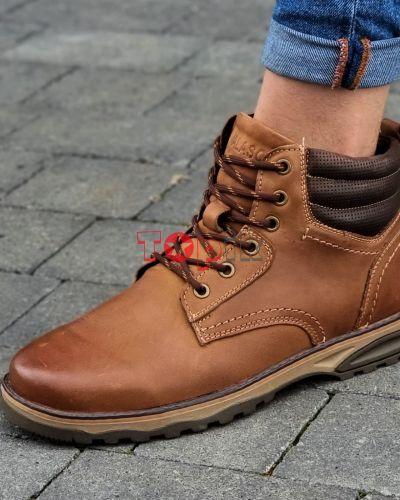 Кожаные ботинки - коричневые Yalasou