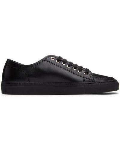 Klasyczne czarne sneakersy sznurowane Brioni