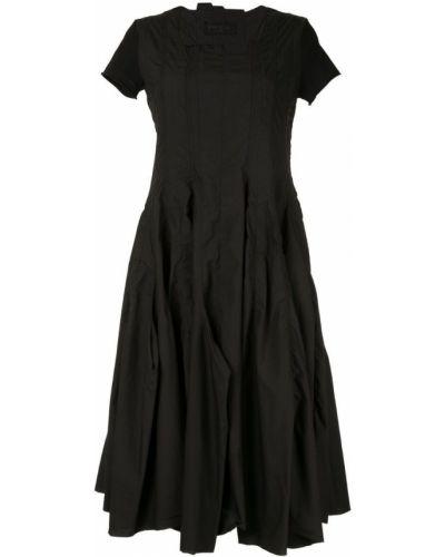 Хлопковое платье миди - черное Rundholz