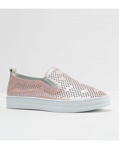 Кожаные туфли розовый Vensi