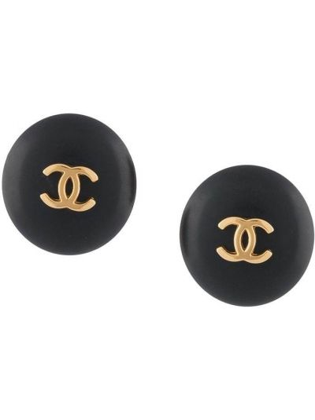 Черные серьги Chanel Pre-owned