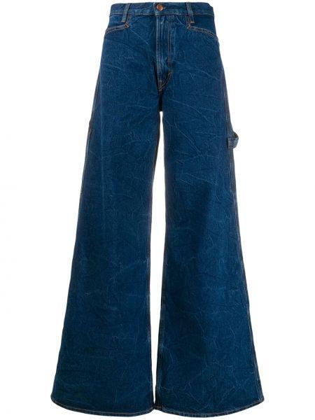 Расклешенные джинсы с поясом на пуговицах Aries