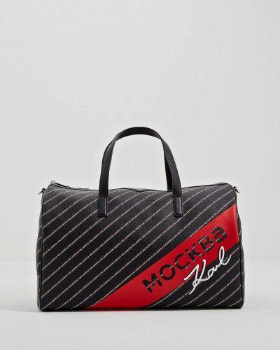 Дорожная сумка черная Karl Lagerfeld