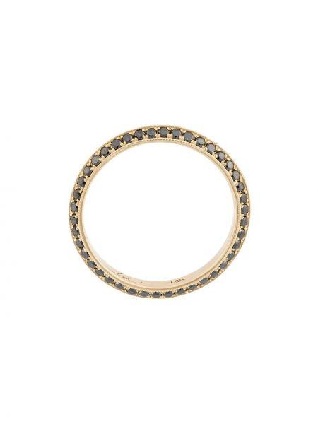 Золотистое кольцо золотое с бриллиантом Lizzie Mandler Fine Jewelry