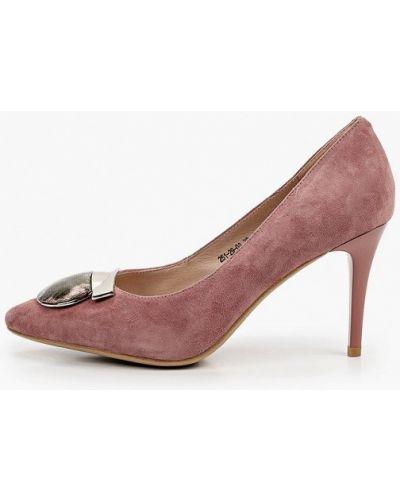 Велюровые розовые туфли-лодочки Dino Ricci