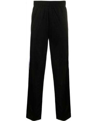 Czarne spodnie z wysokim stanem Raf Simons