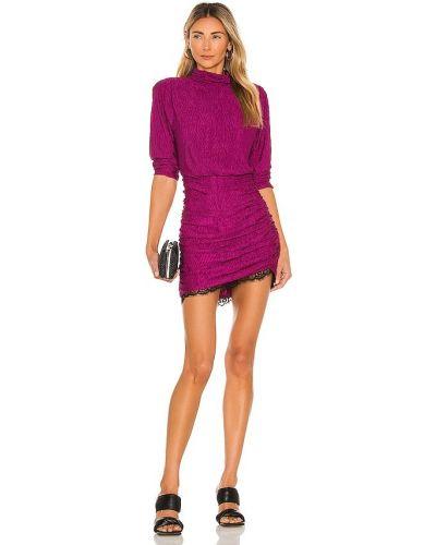 Fioletowa sukienka z wiskozy Saylor