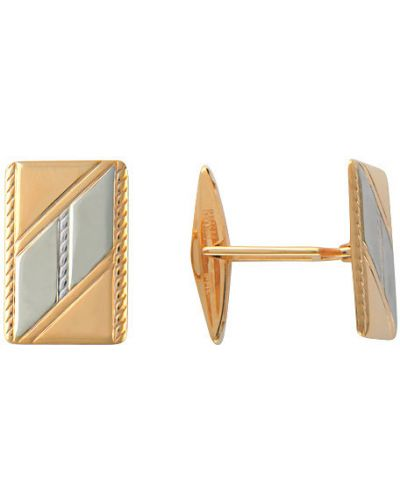 Запонки из золота золотой эстет