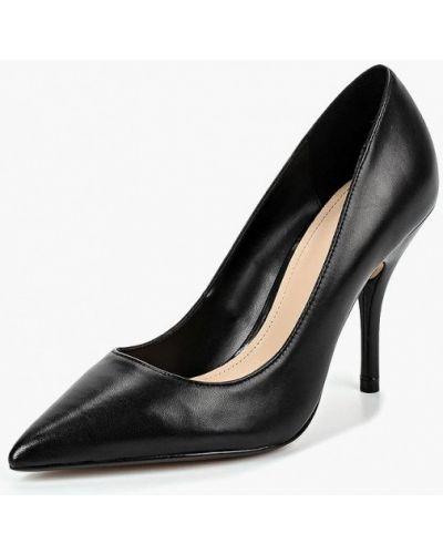 Туфли-лодочки кожаные на каблуке Mango