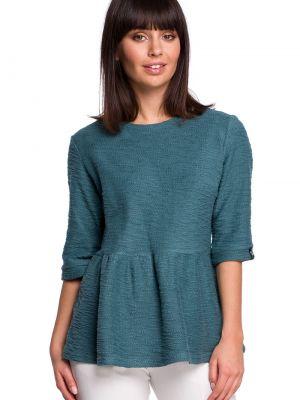 Bluzka materiałowa - niebieska Bewear