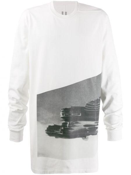Koszula z długim rękawem prosto długa Rick Owens
