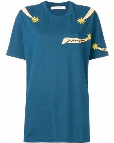 Niebieski bawełna z rękawami koszula Givenchy