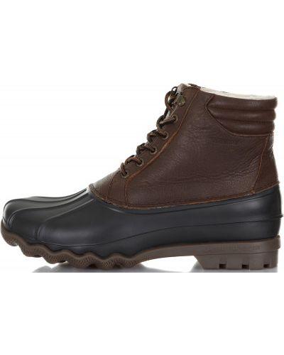 Кожаные ботинки на тинсулейте теплые Sperry