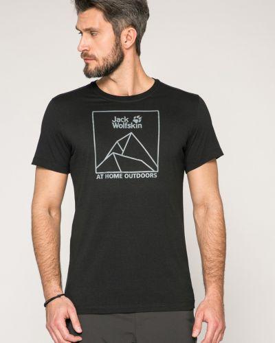 Черная футболка Jack Wolfskin