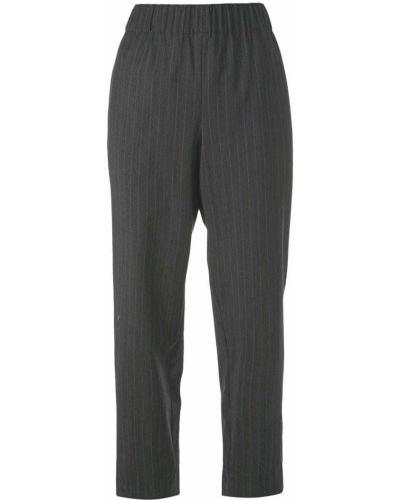 Укороченные брюки в полоску серые Tibi