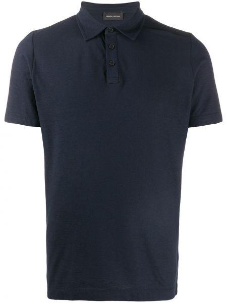 Koszula krótkie z krótkim rękawem prosto ciemnoniebieski Roberto Collina