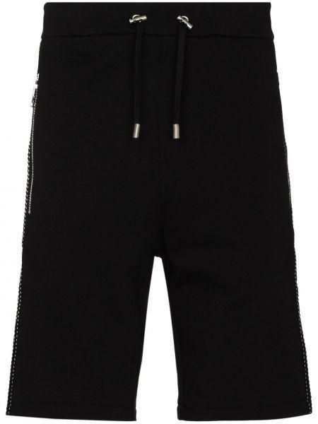 Czarny bawełna bawełna szorty Balmain