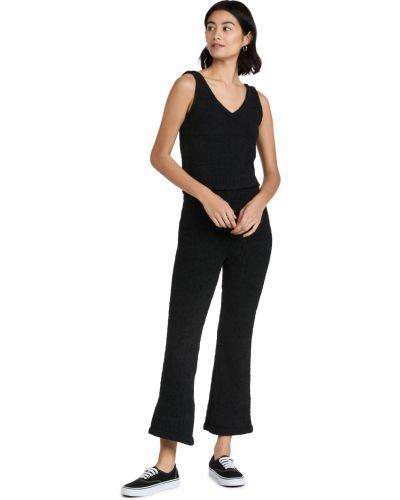 Spodnie - czarne Plush