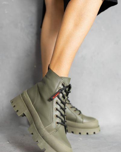 Кожаные ботинки - хаки Olli