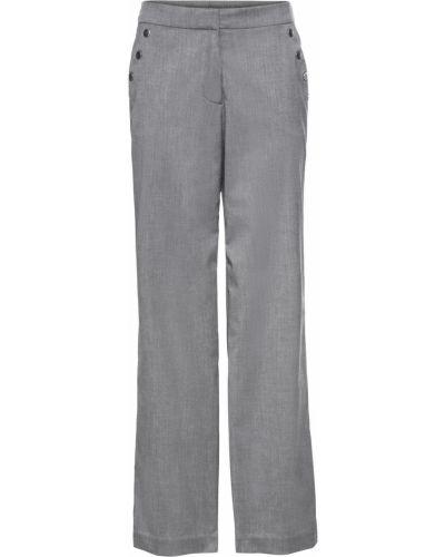 Свободные брюки серые с накладными карманами Bonprix