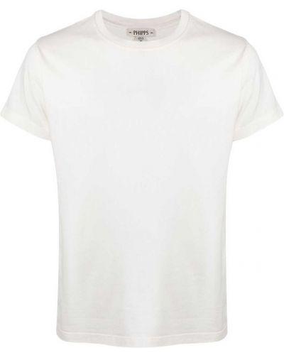 Biały t-shirt bawełniany krótki rękaw Phipps