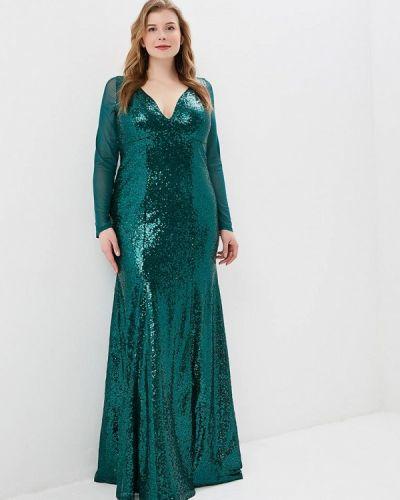 Вечернее платье - зеленое Goddiva Size Plus