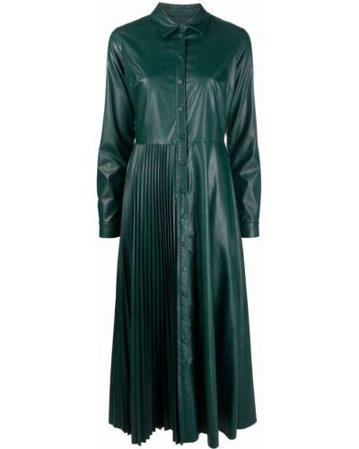 Платье макси с длинными рукавами - зеленое Twinset