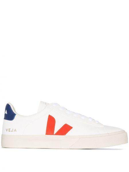 Белый кожаный кружевная топ на шнуровке Veja