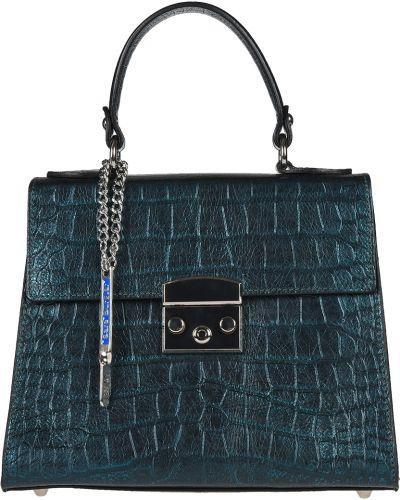 Кожаная сумка - зеленая Sara Burglar