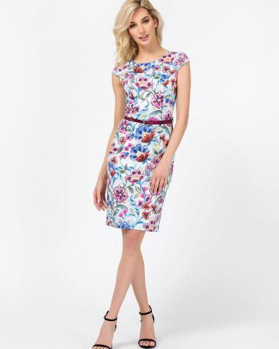 Нарядное с рукавами платье-футляр с открытой спиной Remix