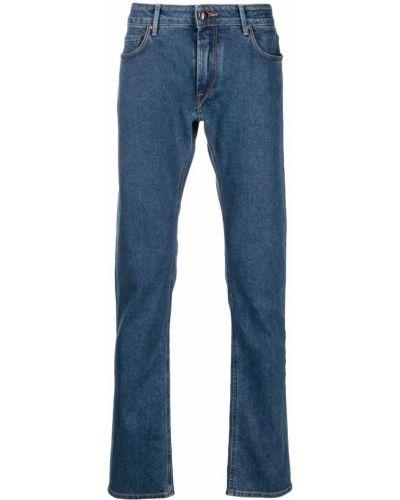 Klasyczne niebieskie jeansy z paskiem Hand Picked