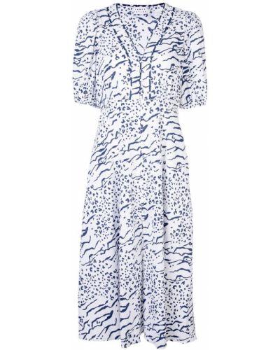 Платье мини на пуговицах с V-образным вырезом Tanya Taylor