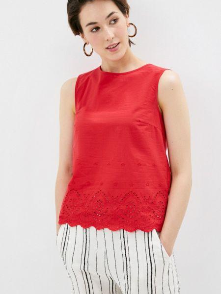 Блузка без рукавов весенний красная Sela
