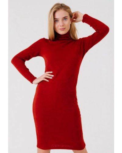 Оранжевое вязаное платье Bessa