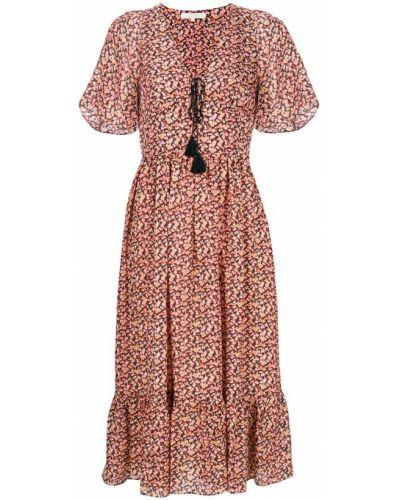 Платье с цветочным принтом с V-образным вырезом солнце Vanessa Bruno