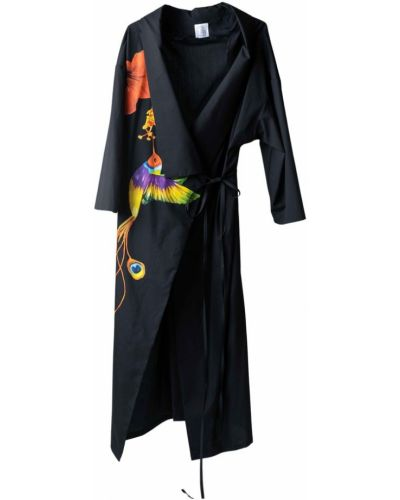 Czarne kimono Stella Jean