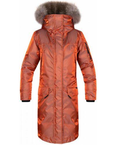 Полупальто с капюшоном - оранжевое Red Fox
