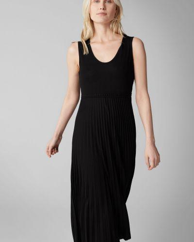 Трикотажное мягкое черное плиссированное платье макси Marc O' Polo