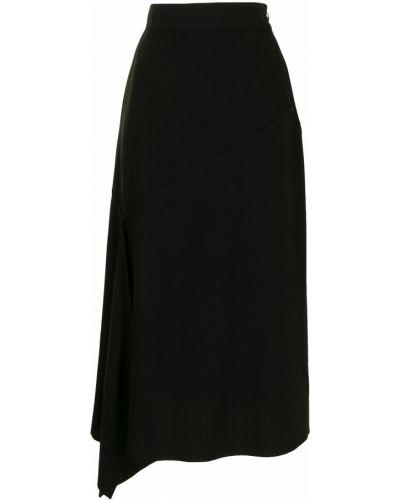 Расклешенная черная юбка Y`s