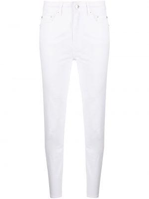 Белые джинсы-скинни с высокой посадкой с нашивками Iceberg