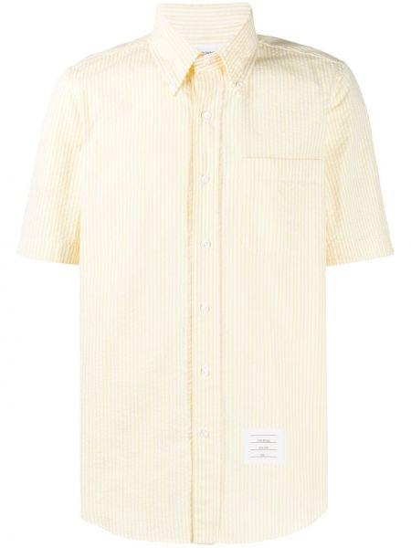 Koszula krótkie z krótkim rękawem klasyczna w paski Thom Browne