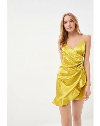 Вечернее платье весеннее желтый Topshop