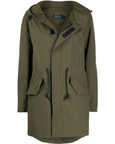 Зеленое пальто с капюшоном Polo Ralph Lauren