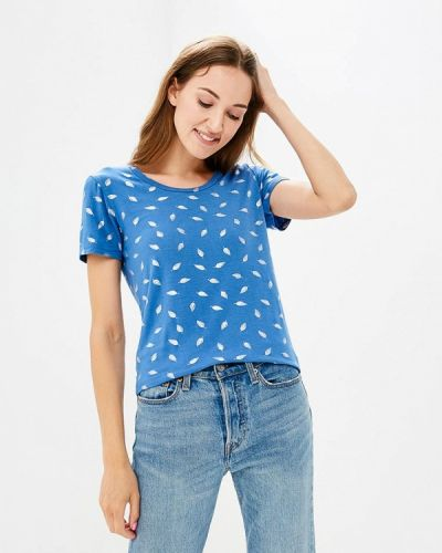 Синяя футболка Iwie