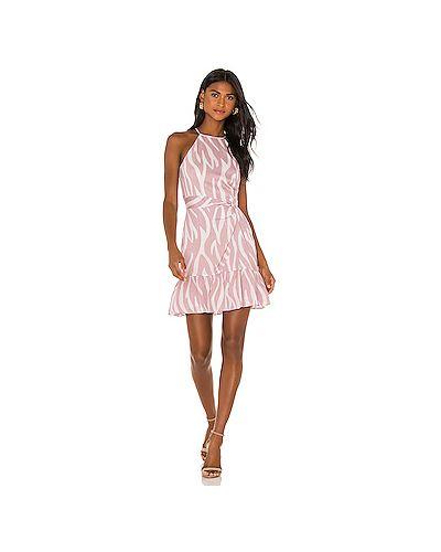 Нейлоновое белое платье на молнии с подкладкой Parker