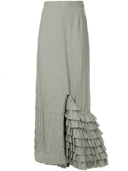 Серая юбка макси с поясом винтажная Junya Watanabe Comme Des Garçons Pre-owned
