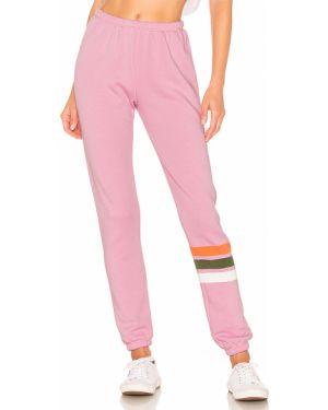 Spodnie na gumce zabytkowe różowy Wildfox Couture