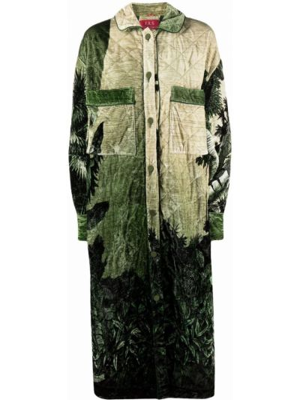 Зеленое пальто с воротником F.r.s For Restless Sleepers