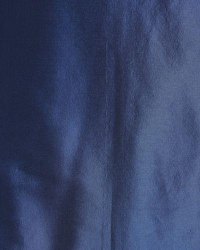 Синий прямой шелковый топ Alena Akhmadullina