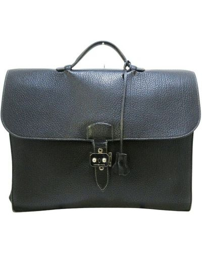 Teczka skórzana - czarna Hermès Vintage